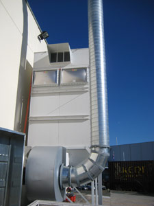 Reverse-pulse dust collection system at Sims Group, Villawood